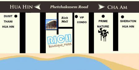 里奇精品酒店的地图