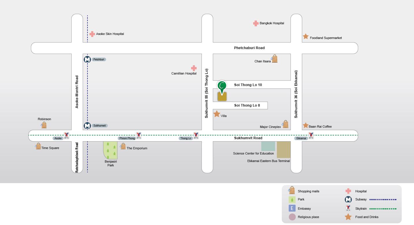 Map Centre Point Sukhumvit Thong Lo Bangkok