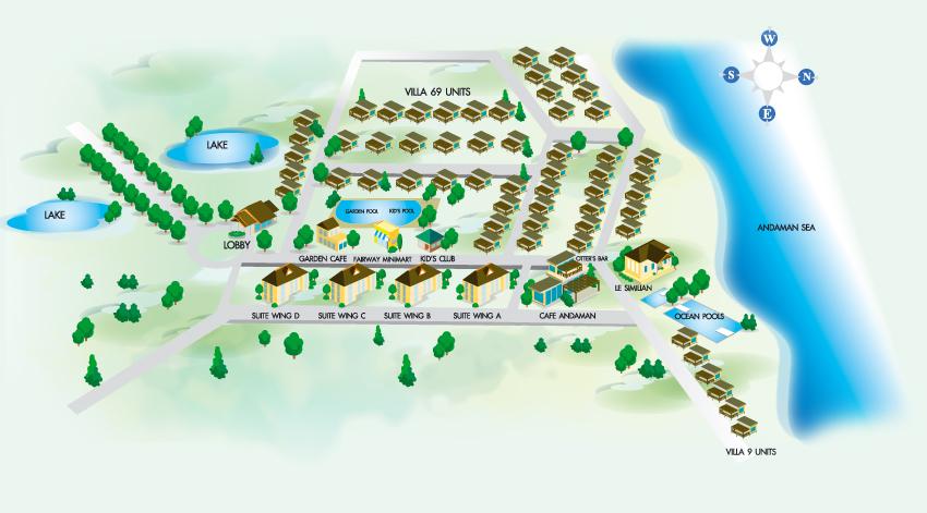 map of kantary beach hotel villas amp suites khao lak