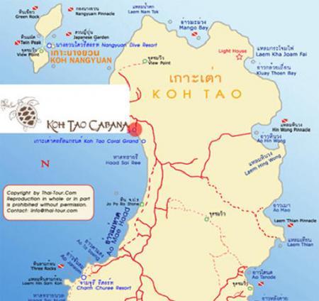 他尼-泰国的地图