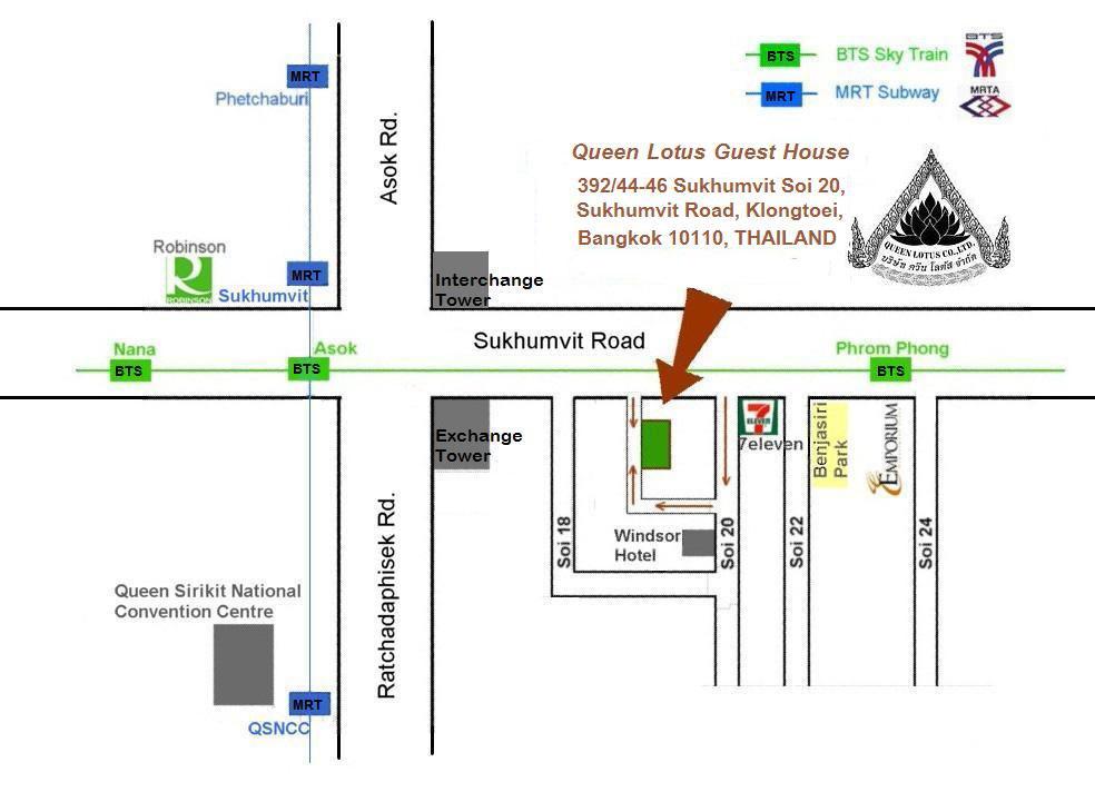 Map Queen Lotus Guest House Sukhumvit Bangkok