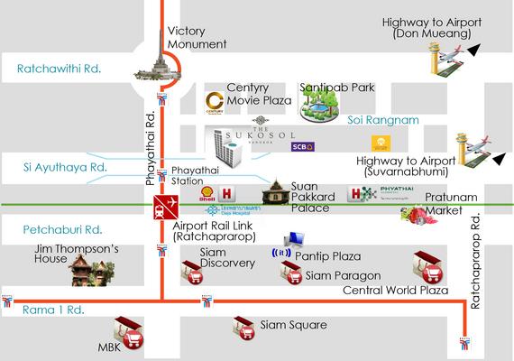 Map The Sukosol Hotel Bangkok