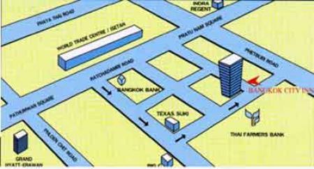 Map Bangkok City Inn