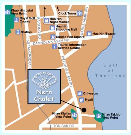 拿恩海滨小屋酒店-华欣的地图
