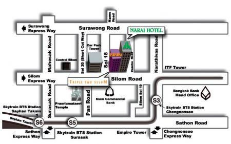 Map Of Narai Hotel Bangkok