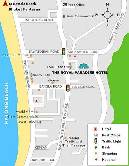 Map Of The Royal Paradise Hotel  U0026 Spa  Phuket
