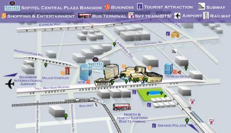 Map Sofitel Centara Grand Bangkok