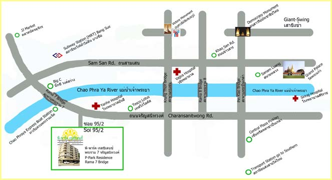 Map Of P Park Residence Charansanitwong Rama7