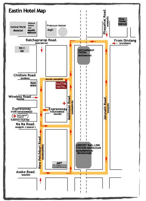Map Of Eastin Hotel Makkasan Rajthevee Bangkok