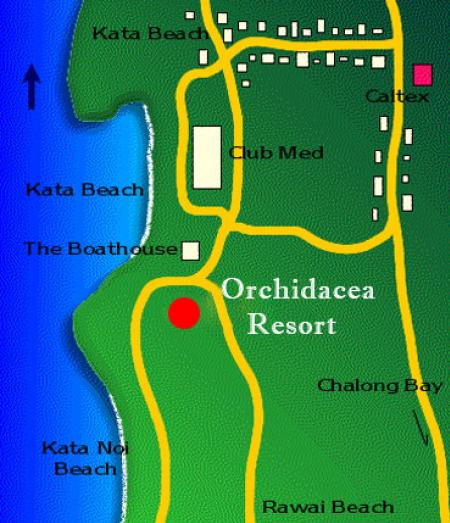 Map Of Orchidacea Resort  Phuket
