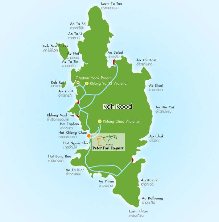 Rest Sea Koh Kood Trad Thailand: Map Of Peterpan Resort Koh Kood Trad