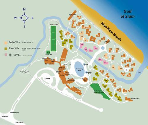 Map of Santiburi Resort koh Samui