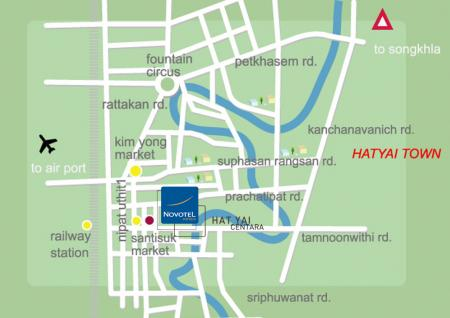 Map Of Centara Hotel Hat Yai Hotels Resorts Thailand