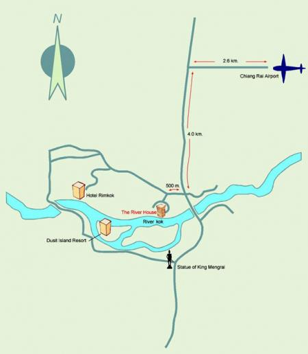 Map of The Imperial River House Resort Chiang Rai Hotels Chiang Rai
