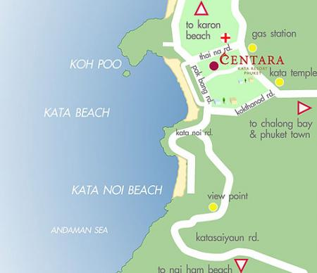 Map of Centara Kata Resort Phuket