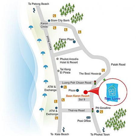 Map of Baan Karon Resort Phuket