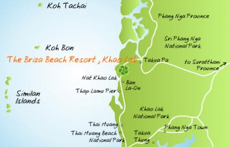 Map of The Briza Beach Resort Khao Lak Phang Nga